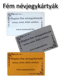 Fém névjegykártyák