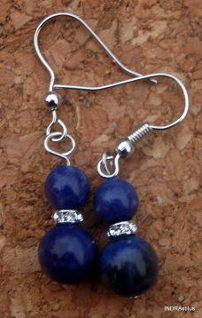 Kék kvarc fülbevaló