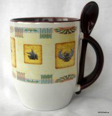 Egyiptomi mintázatú kanalas bögre 3.
