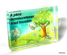Pénz fa kristálykép
