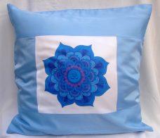 Mandalás párnahuzat – kék