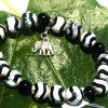 Zebra jáspis és ónix karkötő
