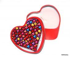 Illatos gyertya fém dobozban - emojik